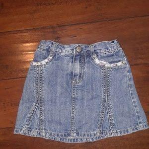 Gymboree girls Denim Skort Skirt w/shorts sz 6